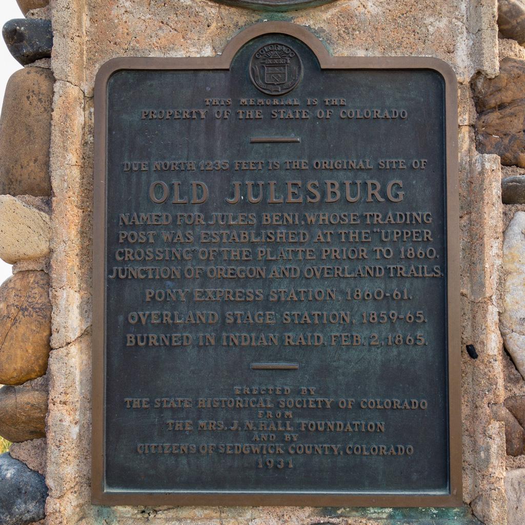 Julesburg-plaque
