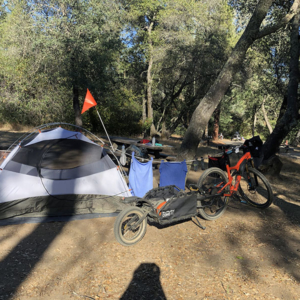 Camp site at Beal's Point Campground on Folsom Lake