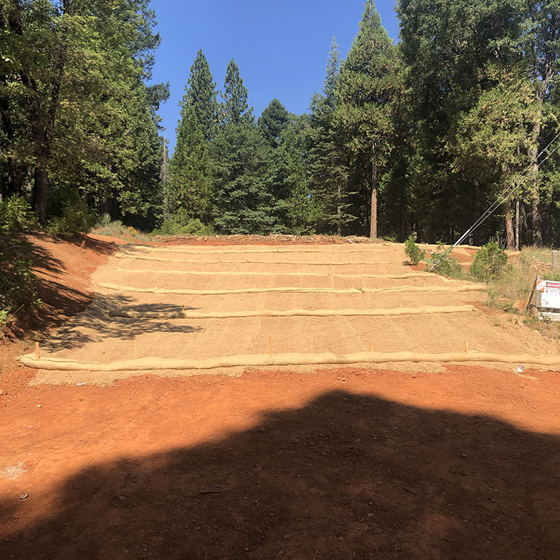 Landscape project, which makes the irrigation canal trail inaccessible from Forebay Road