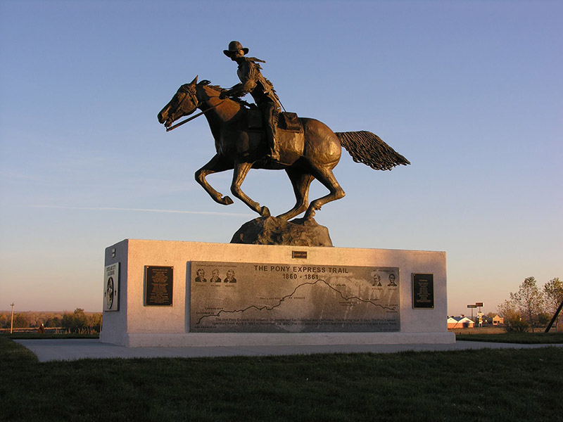 Pony Express Monument, Julesburg, CO