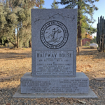 Halfway House Station marker at Silveyville